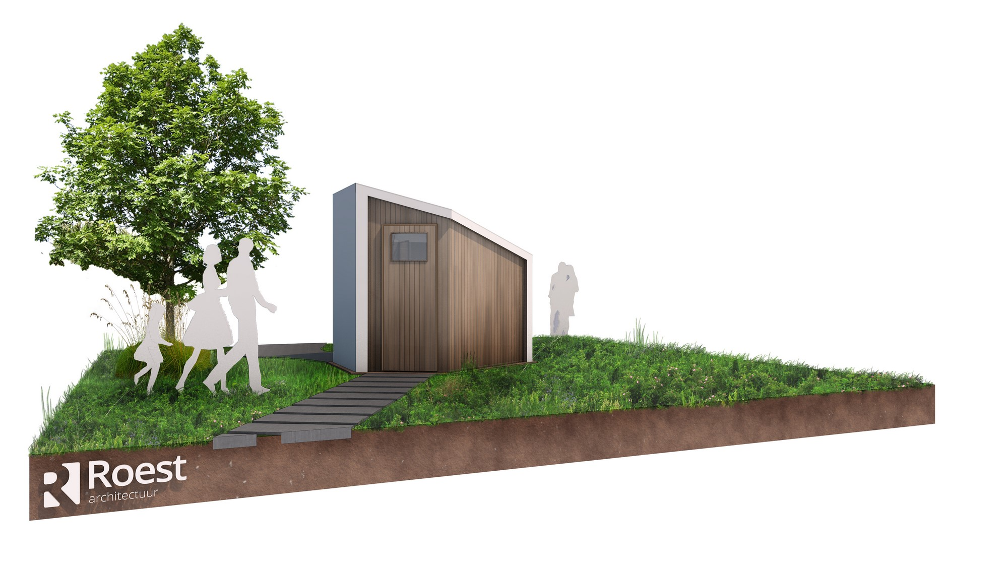 Ontwerp glamping sanitaire unit
