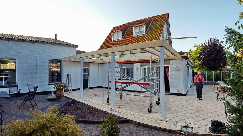Start bouw transparante woninguitbreiding - Bouw een overdekt terras ...