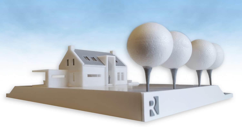 Voorlopig ontwerp en 3d print woning langeraar gereed for Ontwerp 3d
