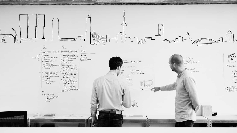 Brainstormwand @ Kantoor Rotterdam