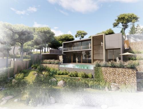 Strakke Mediterraanse villa
